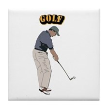 Golf With Text Tile Coaster
