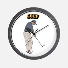 Golf With Text Wall Clock
