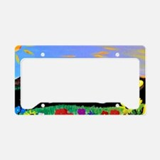 Retro Yellow Truck and Camper License Plate Holder
