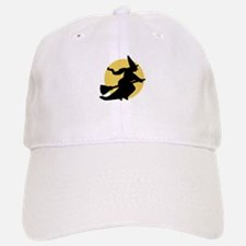 Witchy Witch on a Broom Baseball Baseball Baseball Cap