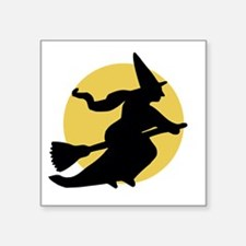 Witchy Witch on a Broom Sticker