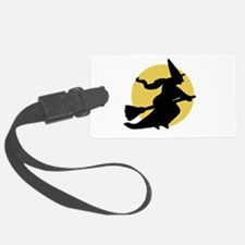 Witchy Witch on a Broom Luggage Tag