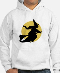 Witchy Witch on a Broom Hoodie