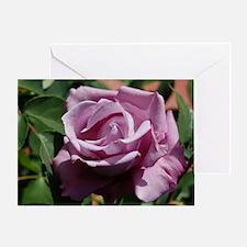 Purple Rose Greeting Card