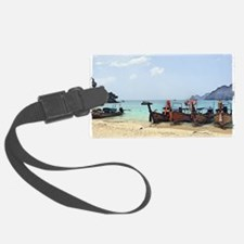 Boats On The Beach In Thailand  Luggage Tag