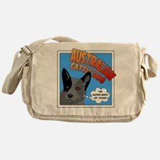 Blue Heeler Super Hero Messenger Bag