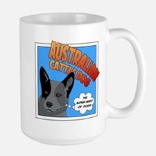 Blue Heeler Super Hero Large Mug