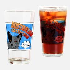 Blue Heeler Super Hero Drinking Glass