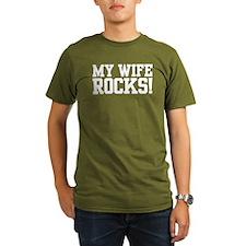 My Wife Rocks Black T-Shirt
