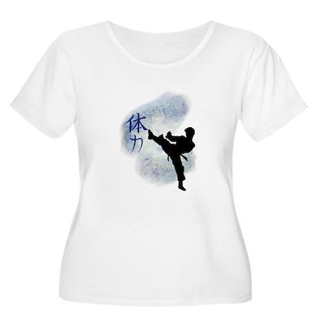 Power Kick 2 Women's Plus Size Scoop Neck T-Shirt