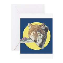 Timber Wolf Design Greeting Cards (Pk of 10)
