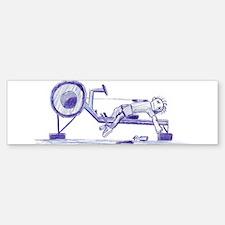 Ergometer rowing sketch Bumper Bumper Bumper Sticker