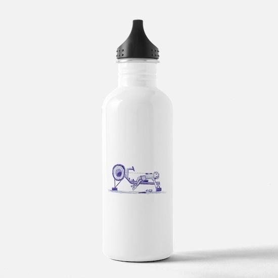 Ergometer rowing sketch Sports Water Bottle