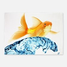 Surfing Goldfish 5'X7'area 5'X7'area Rug
