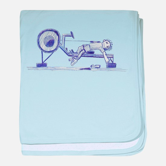 Ergometer rowing sketch baby blanket