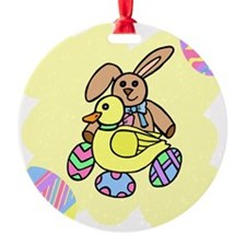 bunny with duck and eggs Ornament