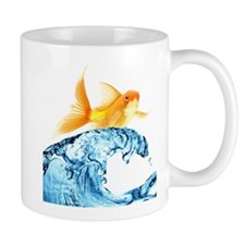 Surfing Goldfish Mug