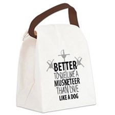 musketeer design Canvas Lunch Bag