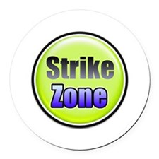 Strike Zone Round Car Magnet