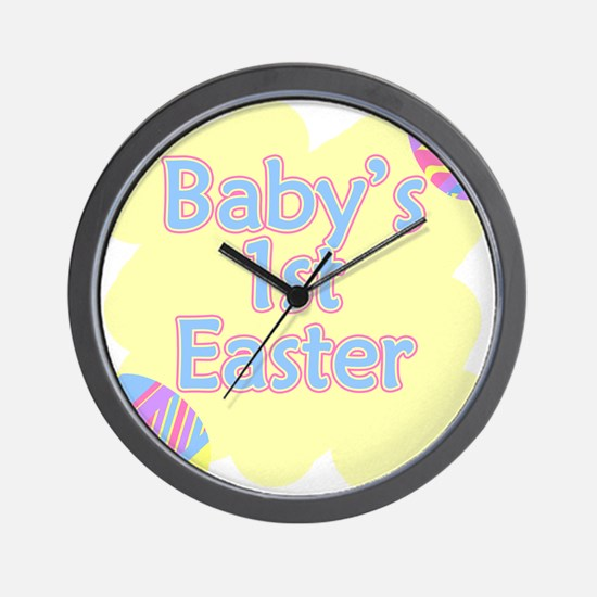 Babys 1st Easter Wall Clock