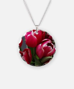 Red Tulips Necklace