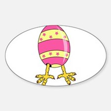 painted egg with feet Decal