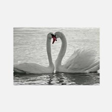 love swans Rectangle Magnet