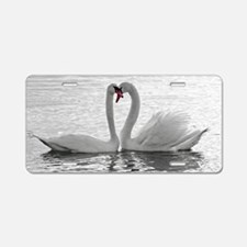 love swans Aluminum License Plate