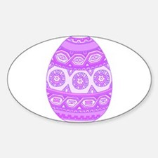 Purple Painted Egg Decal