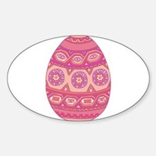 Pink Painted Egg Decal