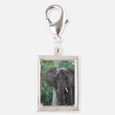 African Elephant Silver Portrait Charm
