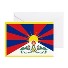 Tibet flag Greeting Cards (Pk of 10)