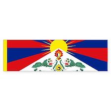 Tibet flag Bumper Bumper Sticker
