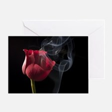 rose with attitude Greeting Card