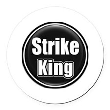 Strike King Round Car Magnet