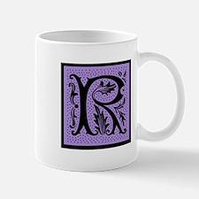 Purple Fleur Monogram R Mug