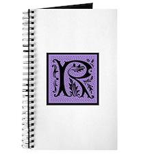 Purple Fleur Monogram R Journal