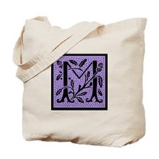 Purple Fleur Monogram M Tote Bag