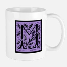 Purple Fleur Monogram M Mug