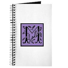 Purple Fleur Monogram M Journal