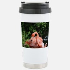 American Flamingo With  Stainless Steel Travel Mug