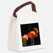 Briliant Flamingo Canvas Lunch Bag