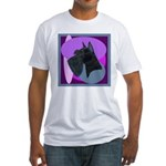 Giant Schnauzer Design Fitted T-Shirt