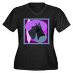 Giant Schnauzer Design Women's Plus Size V-Neck Da
