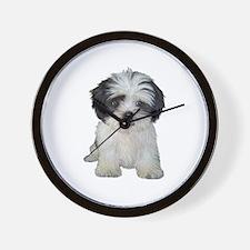 Shih Tzu (bw) pup Wall Clock