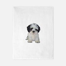 Shih Tzu (bw) pup Twin Duvet