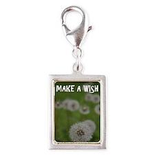 Make a Wish Silver Portrait Charm