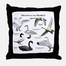 Swans of the World Throw Pillow