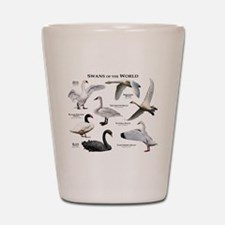 Swans of the World Shot Glass