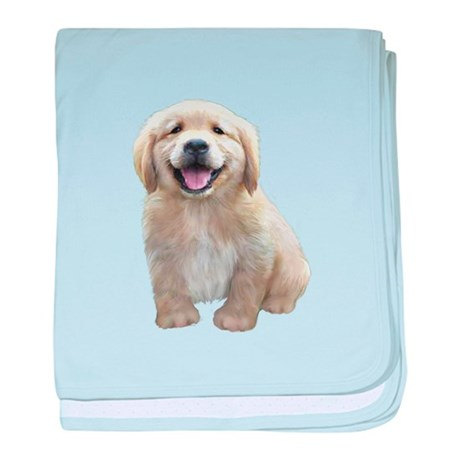 Golden Retriever Puppy Baby Blanket By Justthedog